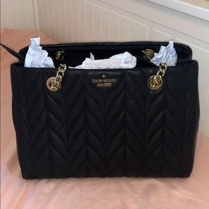 Brand new black quilted Kate Spade purse